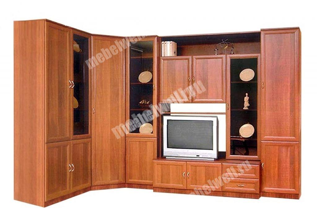 Мебельные стенки московских мебельных фабрик с угловым шкафом.