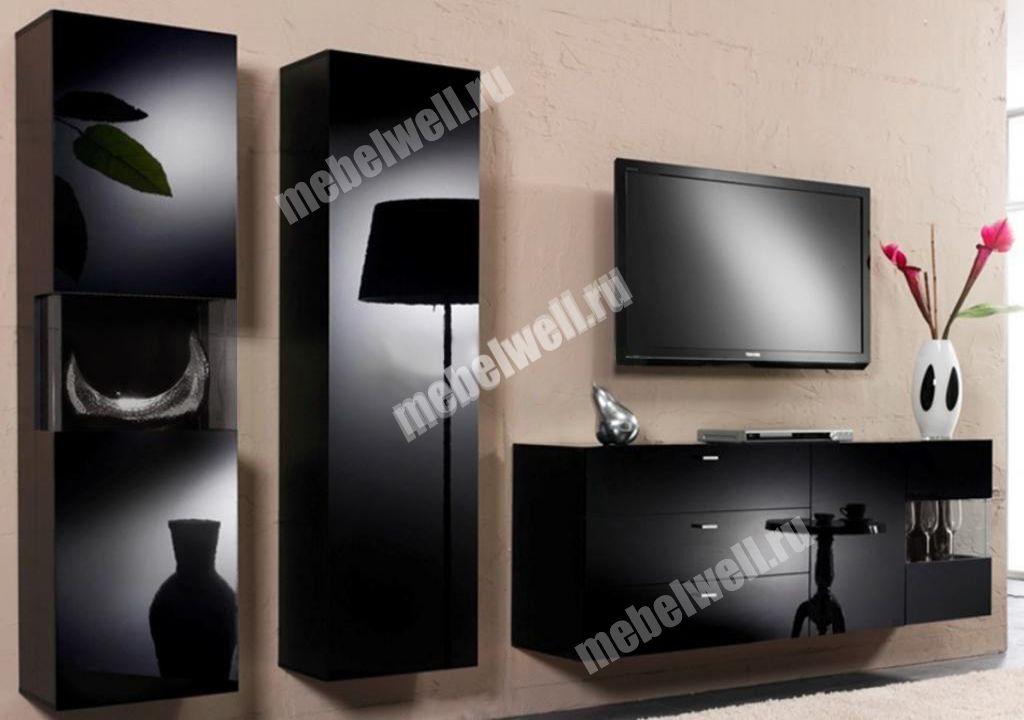 Мебель Для Гостиной Черный Глянец Москва